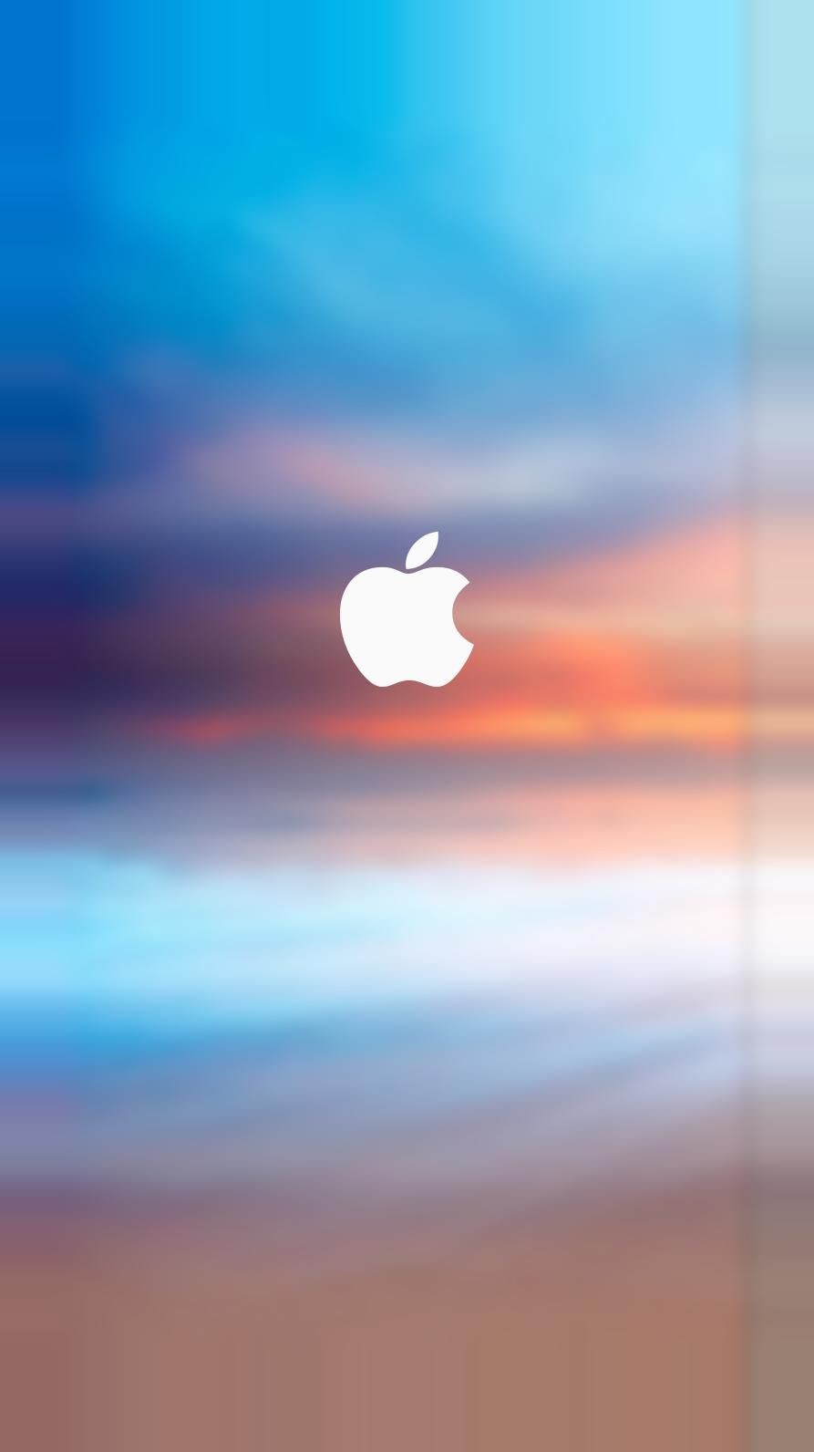 Apple Logo Splash Parallax Turquoise Iphone  And Iphone  Plus Hd Wallpaper