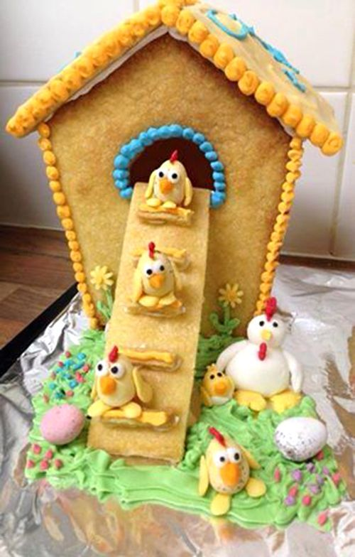 Chicken Coop Gingerbread House Ideas   Cute Christmas DIY Idea