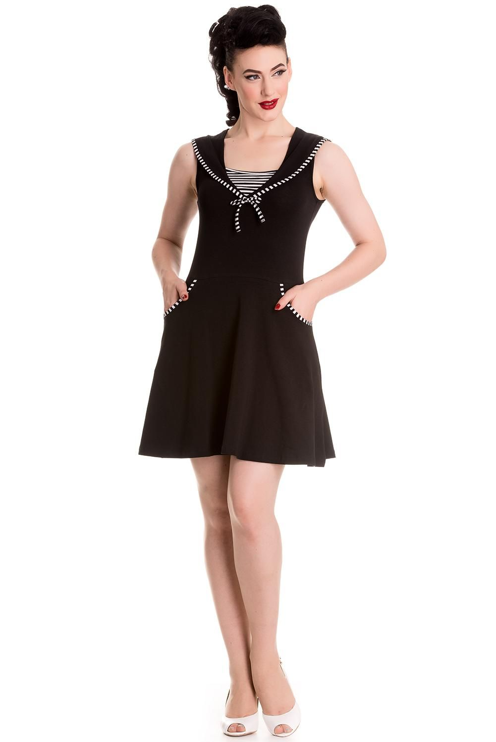 a2ee4928e255e Hell Bunny Hali Dress Black Now £15.95 sizes 8-16 wigig