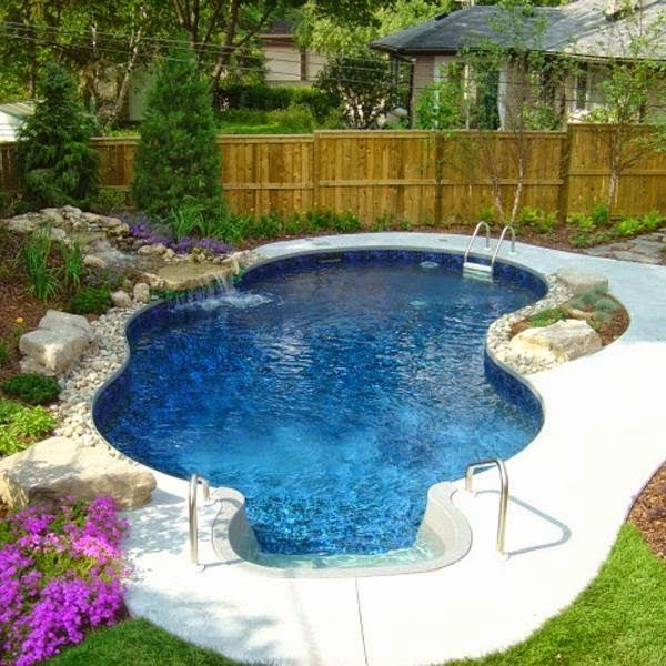 inground pool with spa designs small pools swimming in ground pictures the aqua group fiberglass spas trilogy fusion model
