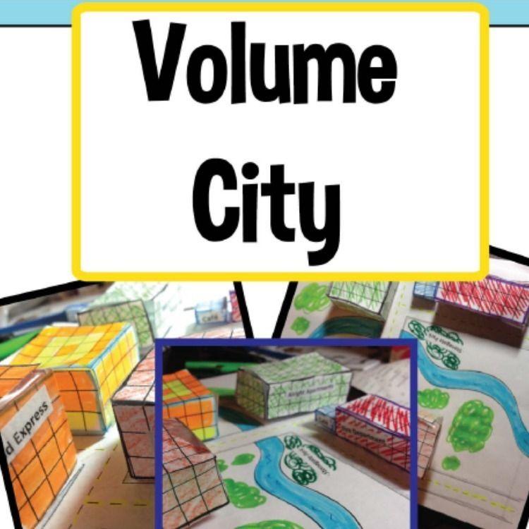 Rectangular Prism Real Life Examples: Volume City, Real Life Math, Teaching Volume