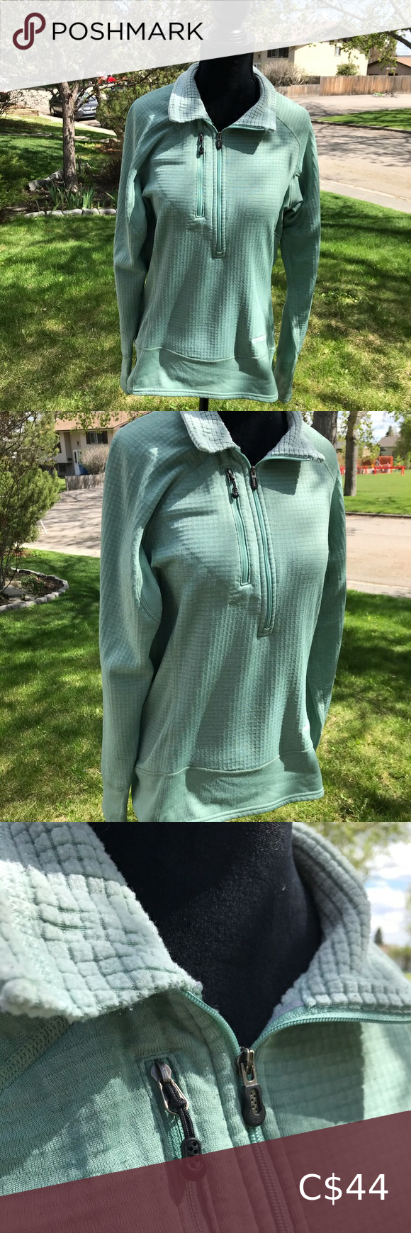 PATAGONIA zip up fleece inner lining R1 pullover Great