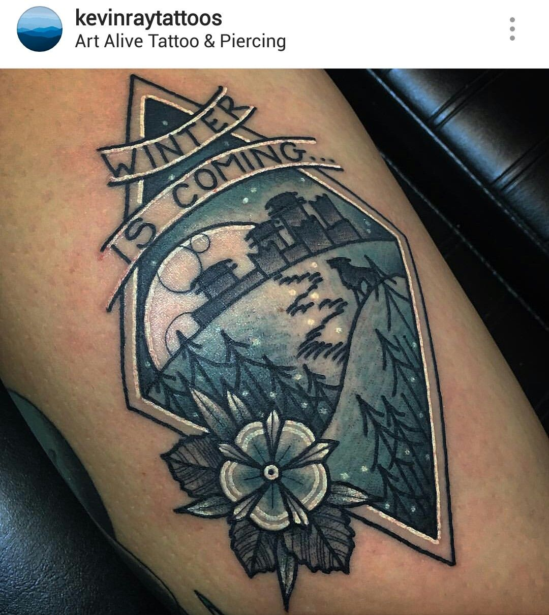 Game Of Thrones Tattoo By At Kevinraytattoos Juego De Tronos