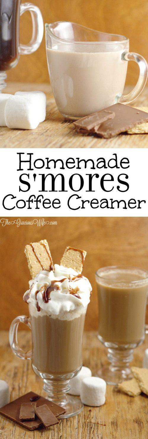 Photo of Homemade S'mores Coffee Creamer