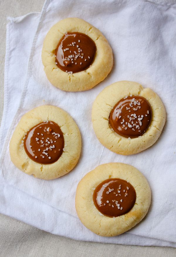 Salted Dulce de Leche (and Nutella) Thumbprint Cookies from @Sommer {A Spicy Perspective}