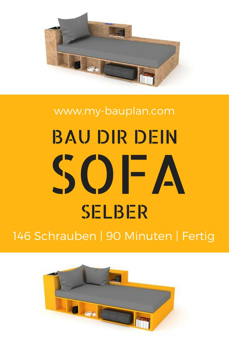 platzsparend ideen sofa mit holzgestell, diy sofa selber bauen! kann easy mit individuellen holz-platten, Innenarchitektur