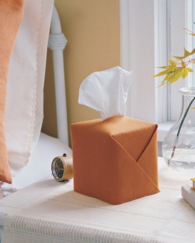 this might be just what i need for a cheap solution to my ugly tissue box.  now if i could make it work for a rectangle.