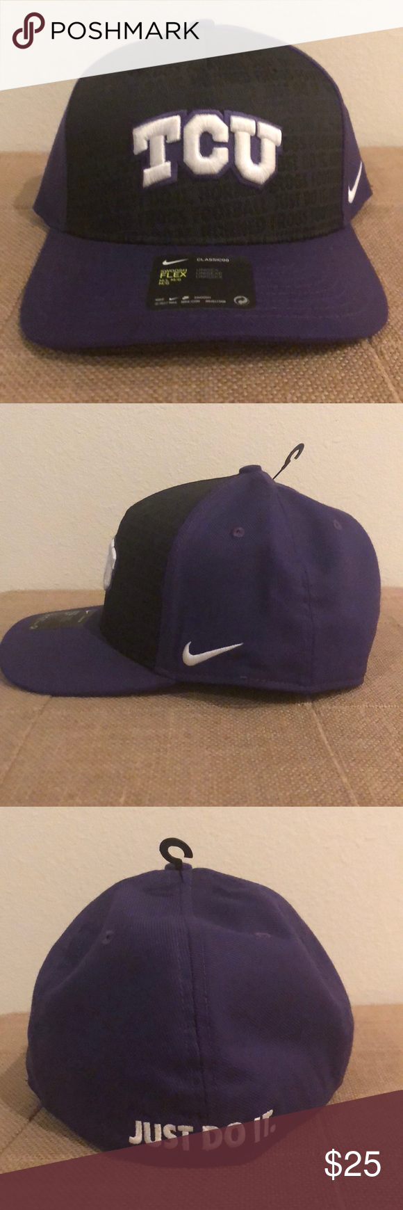 new products b3330 c72ac TCU Horned Frogs Nike Just Do It Swooshflex Cap Show the world which team  you are