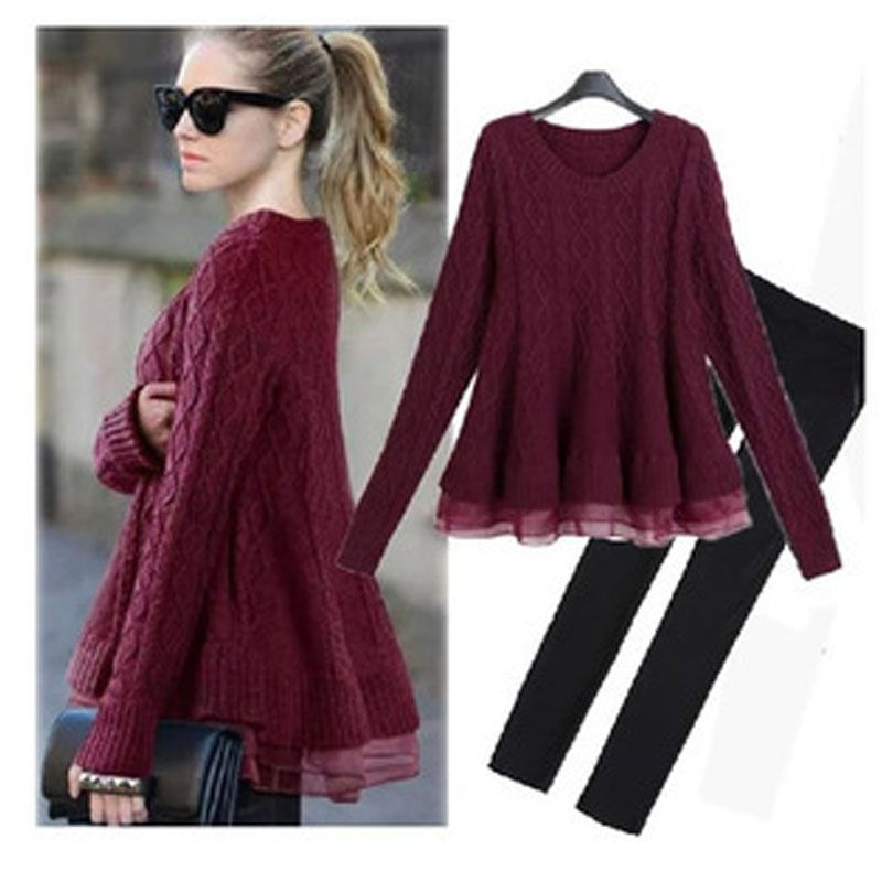 Pullover Dress XXXL Brief Wool Sweater Full Sleeve Plus Size Two ...