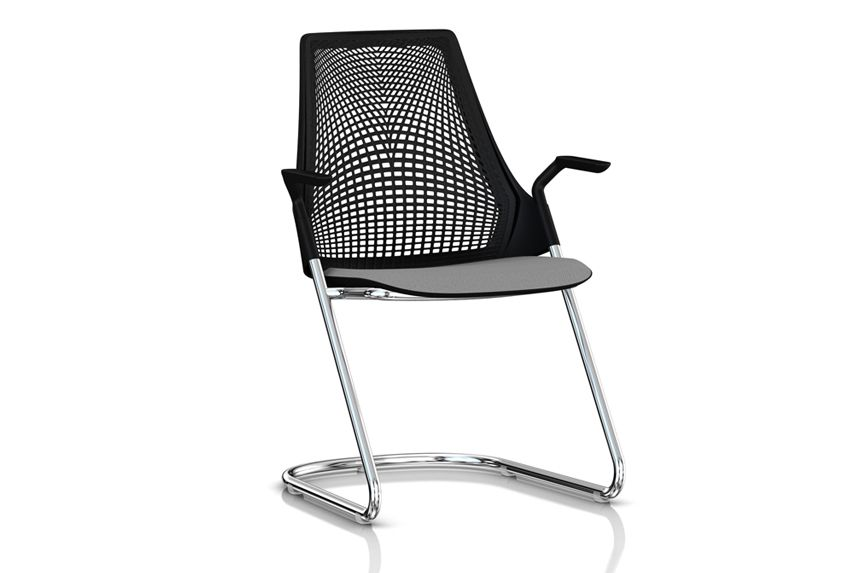 sayl side chair with sled base office chairs chairs herman