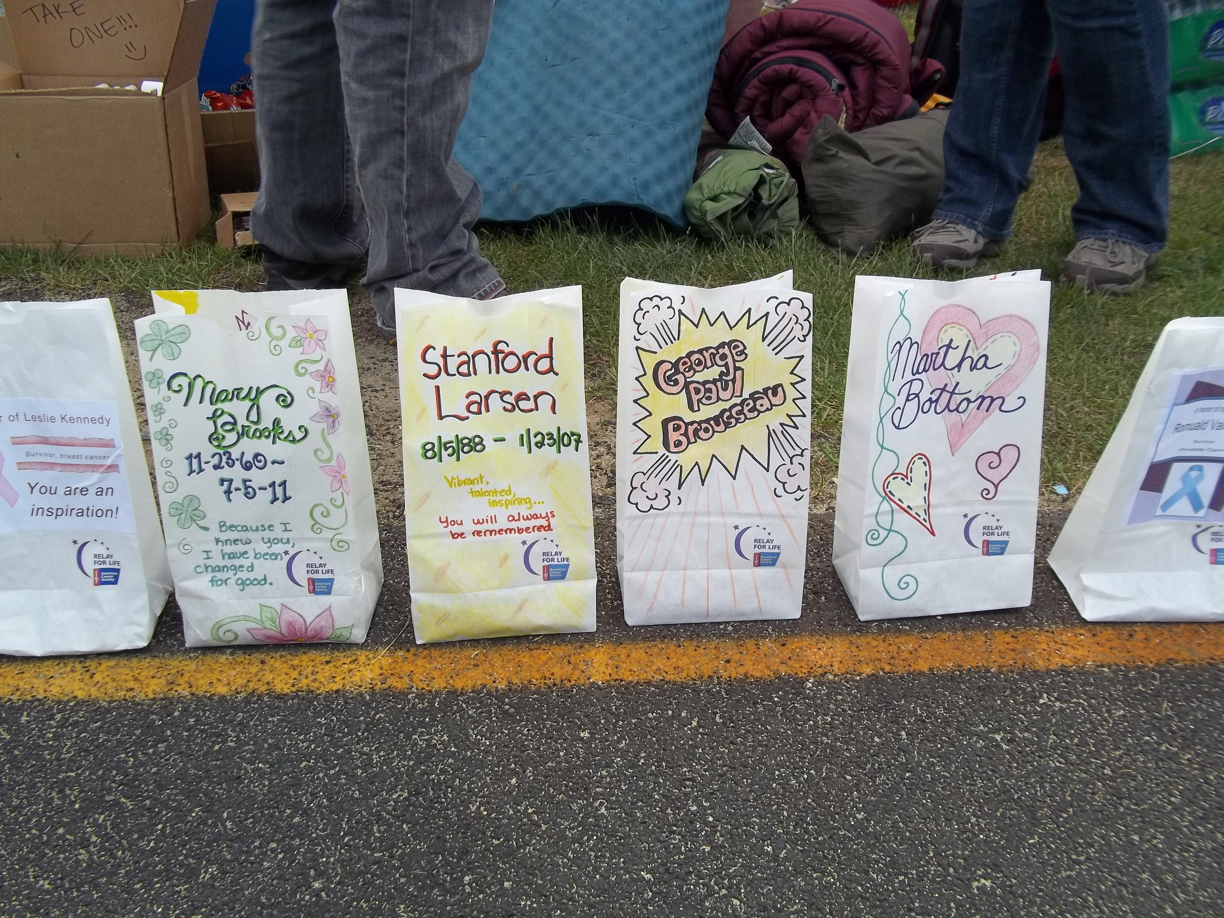 My Relay For Life Luminaria Bags