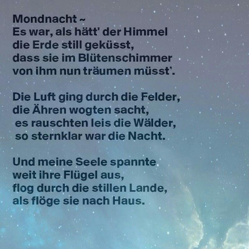 Mondnacht - Joseph von Eichendorff | Eichendorff gedichte