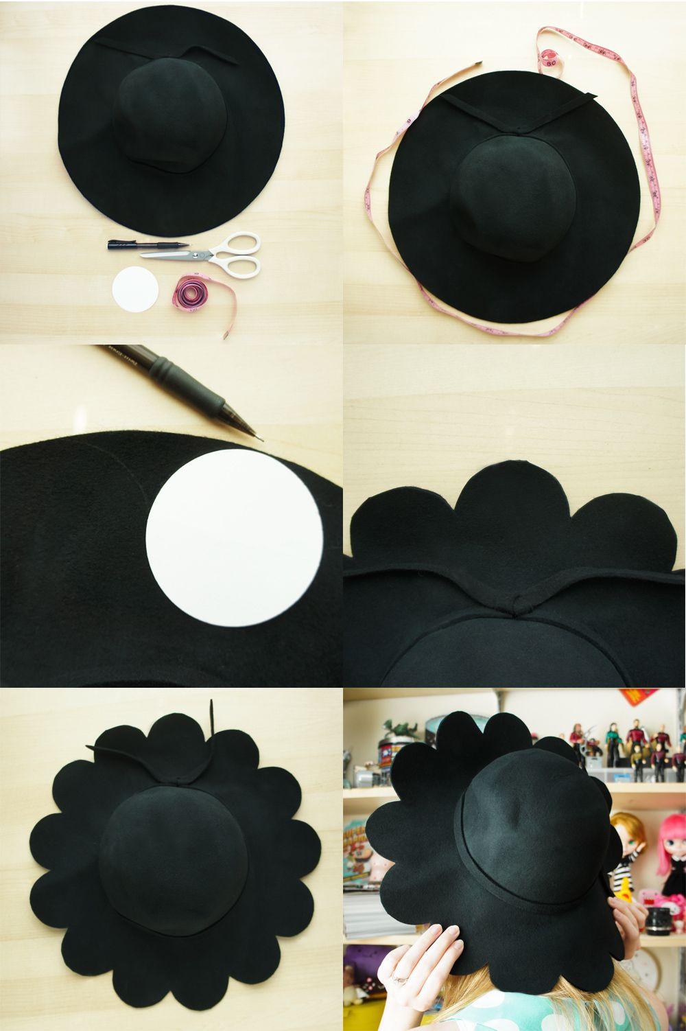 Tutorial: how to make a felt hat using flat felt. Turning one.