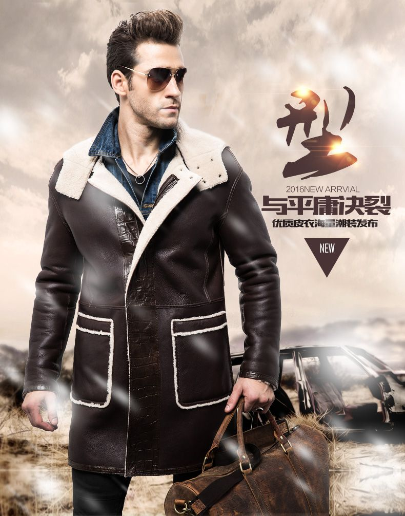 Find More Leather & Suede Information about Male long section fur coat Sheep skin Jacket  Winter Men's Both wearing apparel Fur,High Quality fur jacket short,China jacket rabbit fur Suppliers, Cheap jackets with fur from Freedom-Enterprising on Aliexpress.com