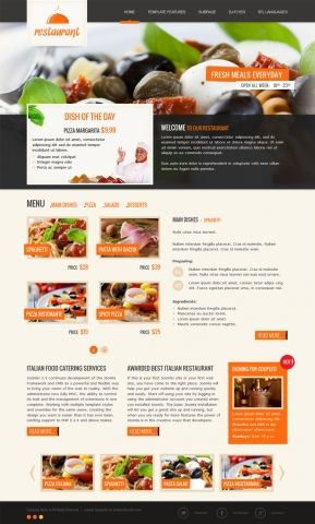 JM-Italian-Restaurant, orange template version.