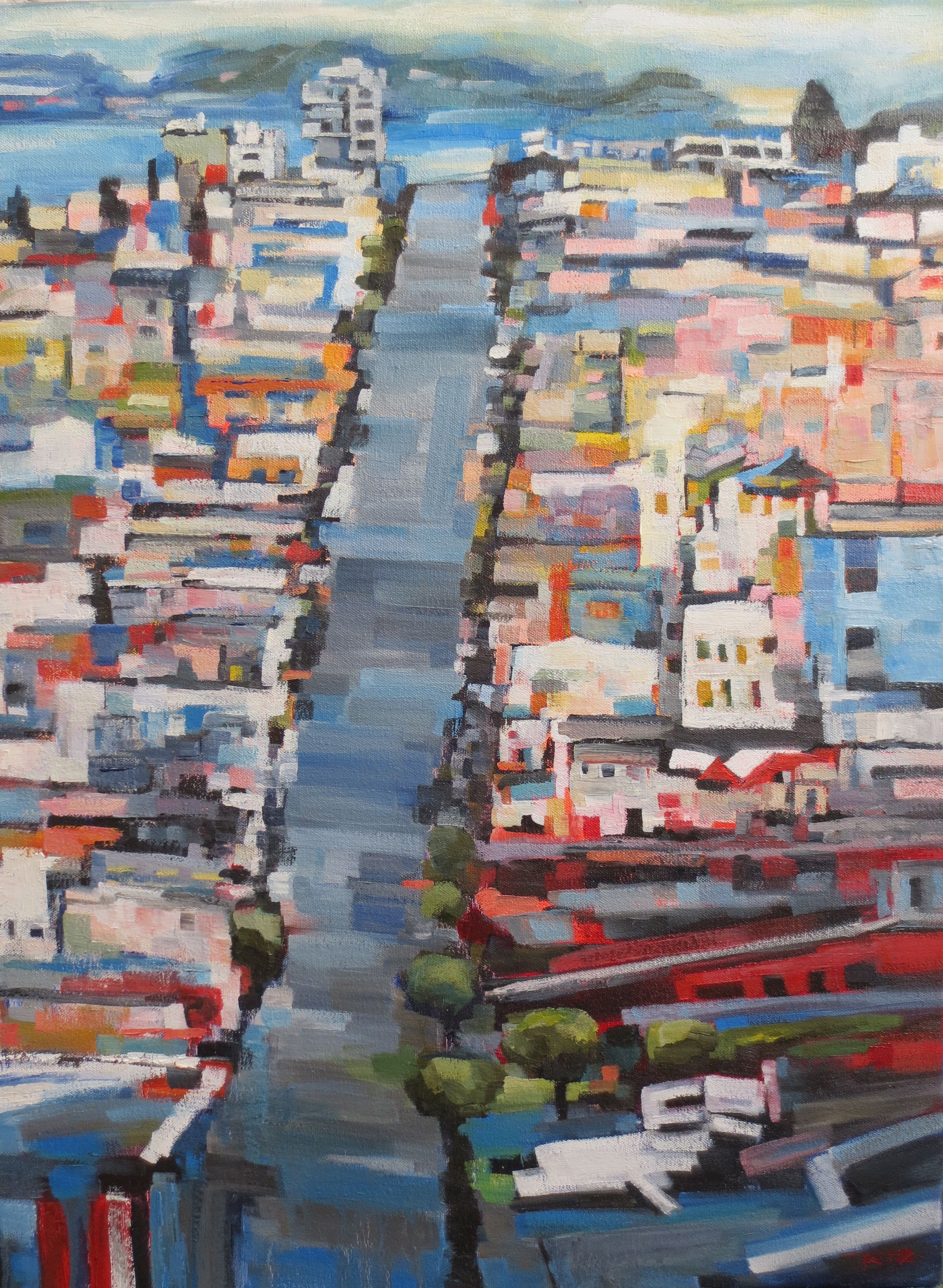Pin By Rach Seb On Abstract Aerial And Landscape Paintings City Painting Abstract Landscape Painting Abstract Landscape