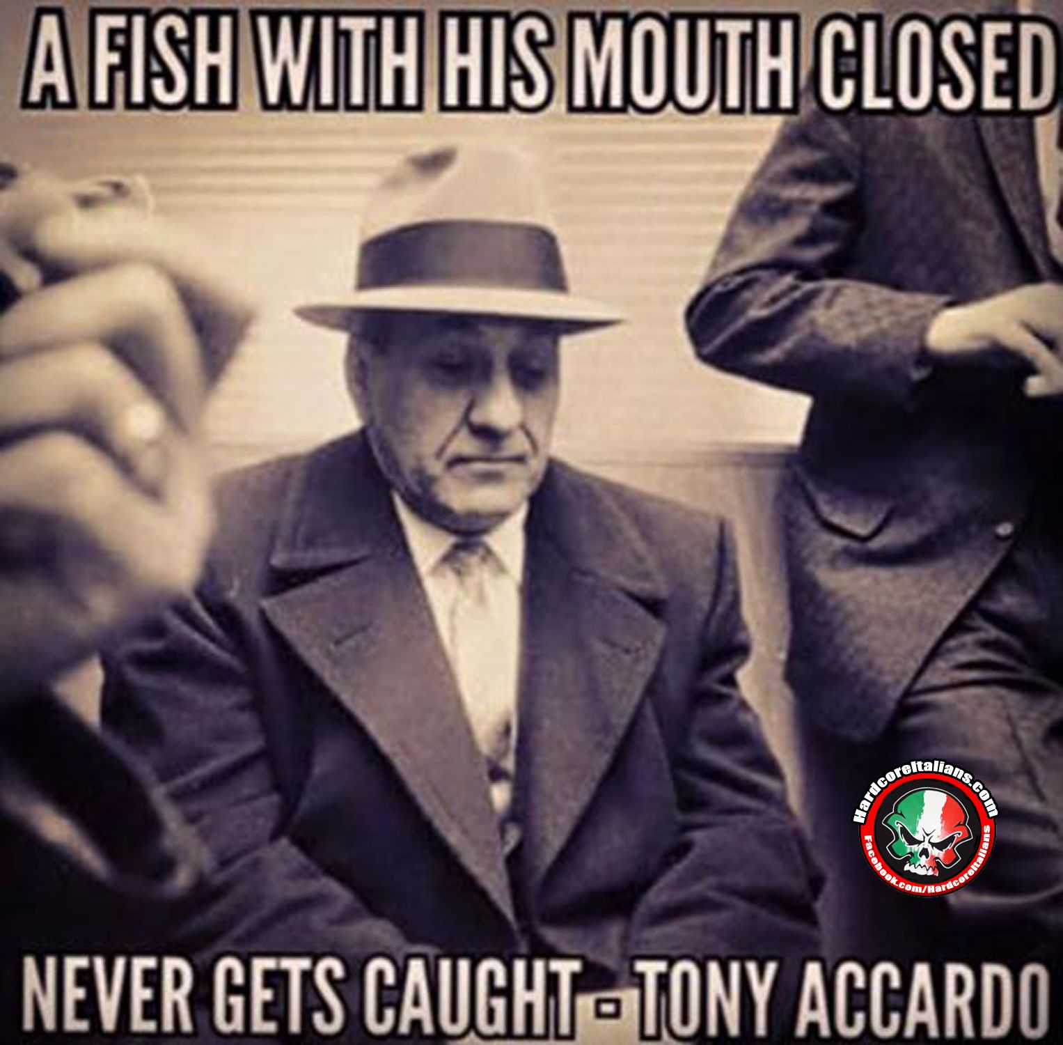 A fish with his mouth closed never gets caught (Italian