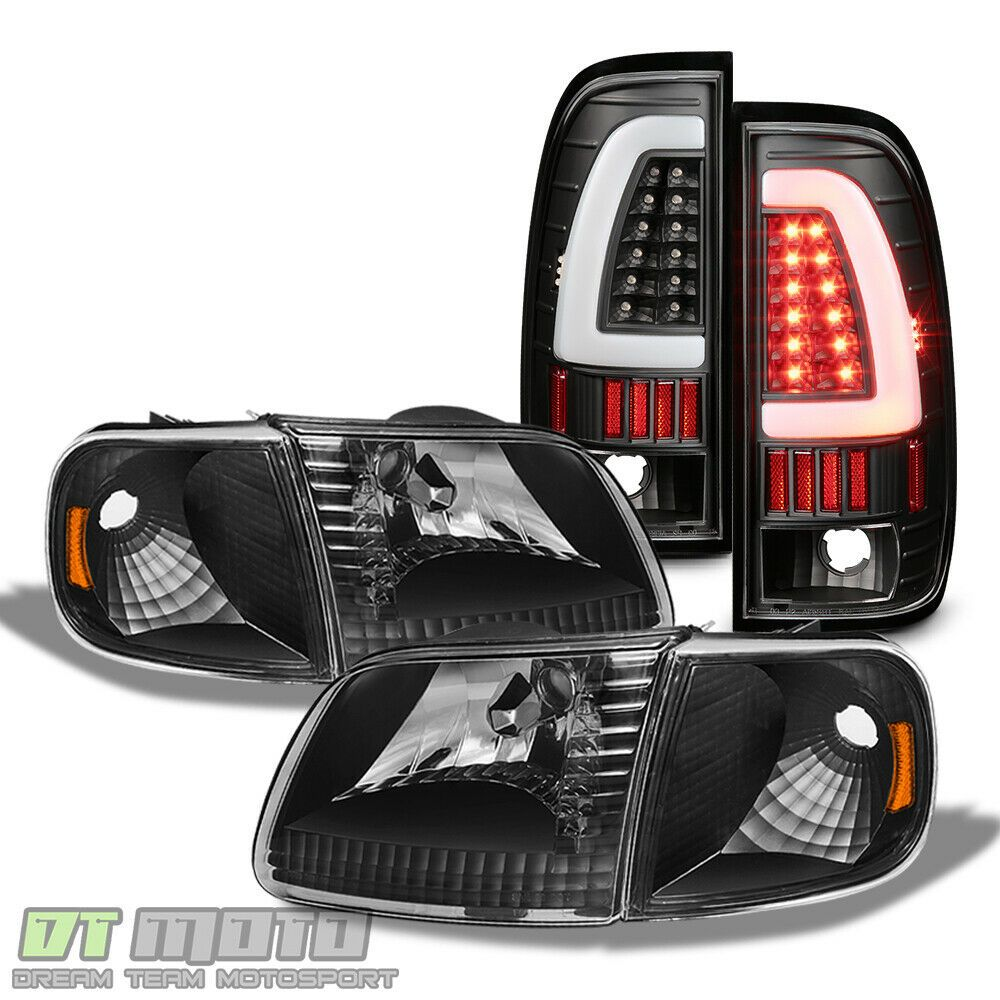 Ad Ebay Black 1997 2003 F 150 Replacement Headlights Led Tail Lights Brake Lamps Set L R Black Headlights Replacement Headlights Ford F150