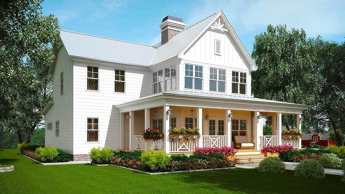 Plan 92381mx a honey of a farmhouse honey house and for Country farmhouse designs