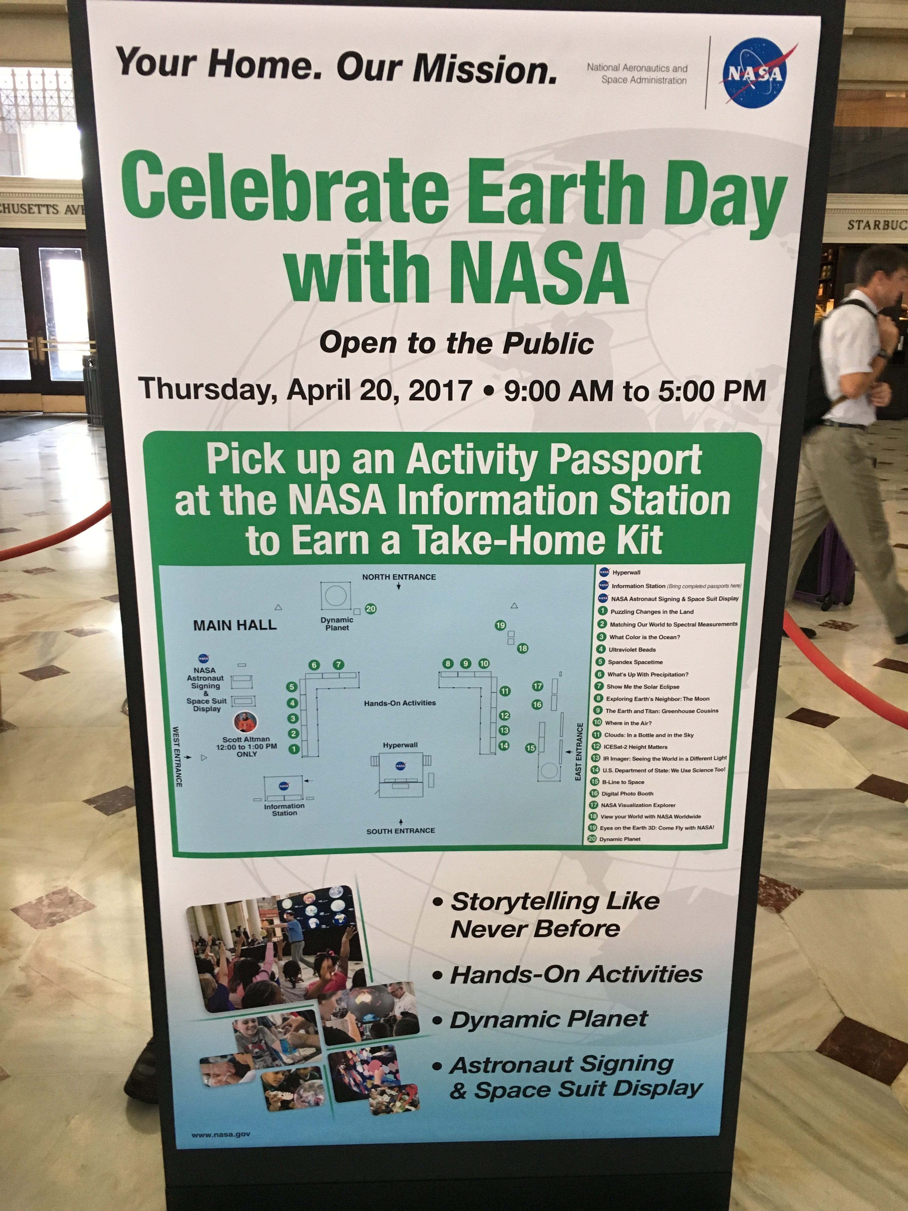 NASA : Earth Day At Union Station in DC  | 코리일보 | CoreeILBO