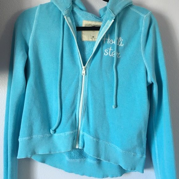Hollister teal jacket Worn once Hollister Jackets & Coats