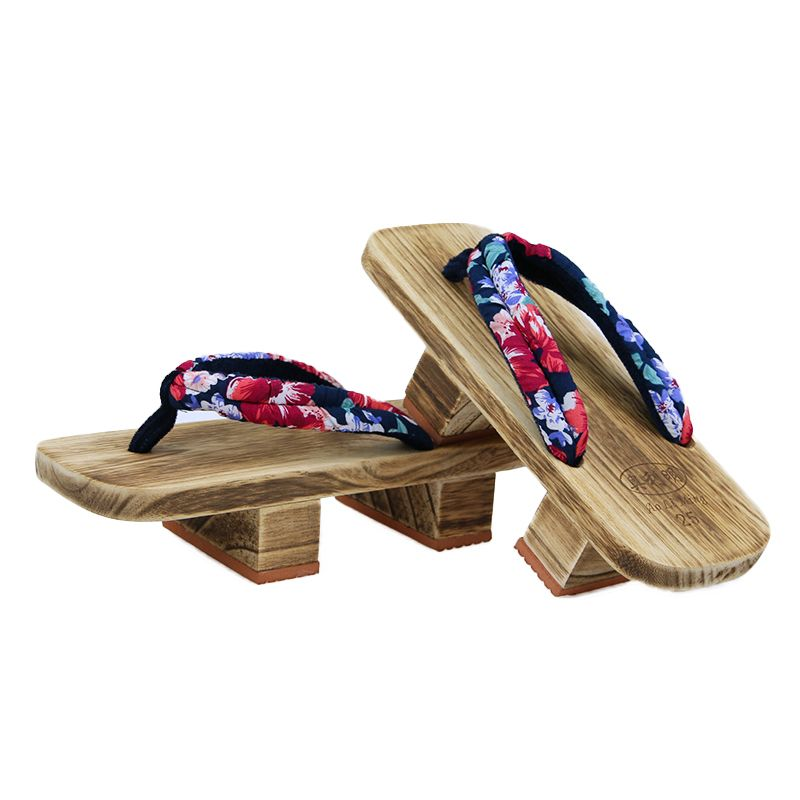 664f326639d3 MAGGIE S WALKER Cosplay GETA Japanese SAMURAI Clogs Wood shoes flat wood  heel square toe shoes summer plank slippers sandals