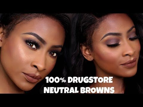 100% DRUGSTORE BEAT | NEUTRAL BROWNS - YouTube