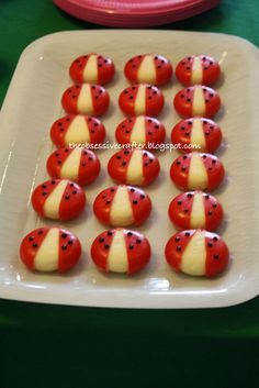 Photo 10 of 13: Preppy Ladybug / Birthday Our Little Ladybug turns 1 | Catch My Party #childrenpartyfoods