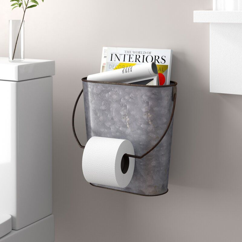 Tin Wall Mounted Toilet Paper Holder In 2021 Bathroom Toilet Paper Holders Toilet Paper Holder Wall Mounted Toilet Small bathroom toilet paper holder