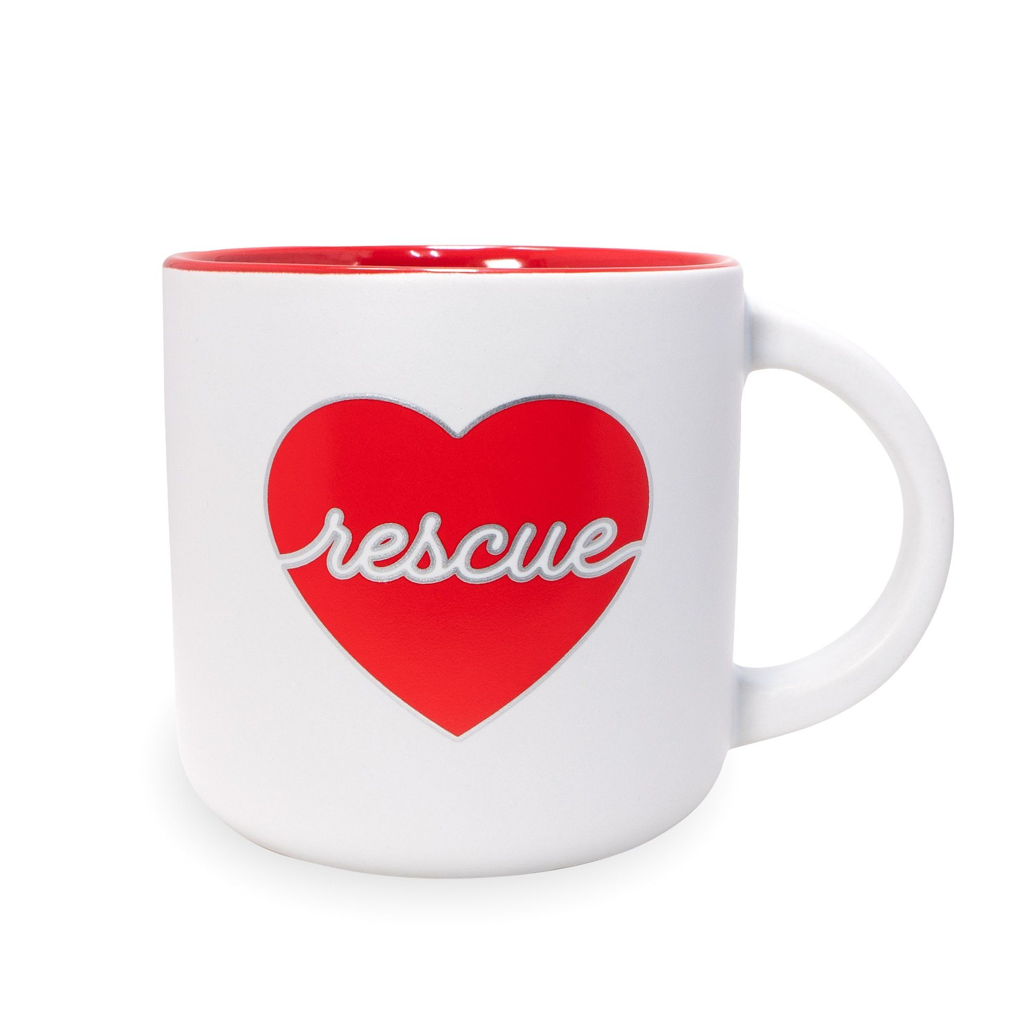 Heart for Rescue Mug Mugs, Perfect date, Red design