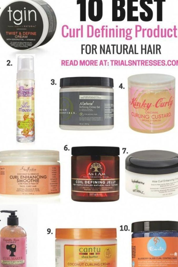 10 Best curl defining products for natural hair #naturalhair #naturalcurlyhair