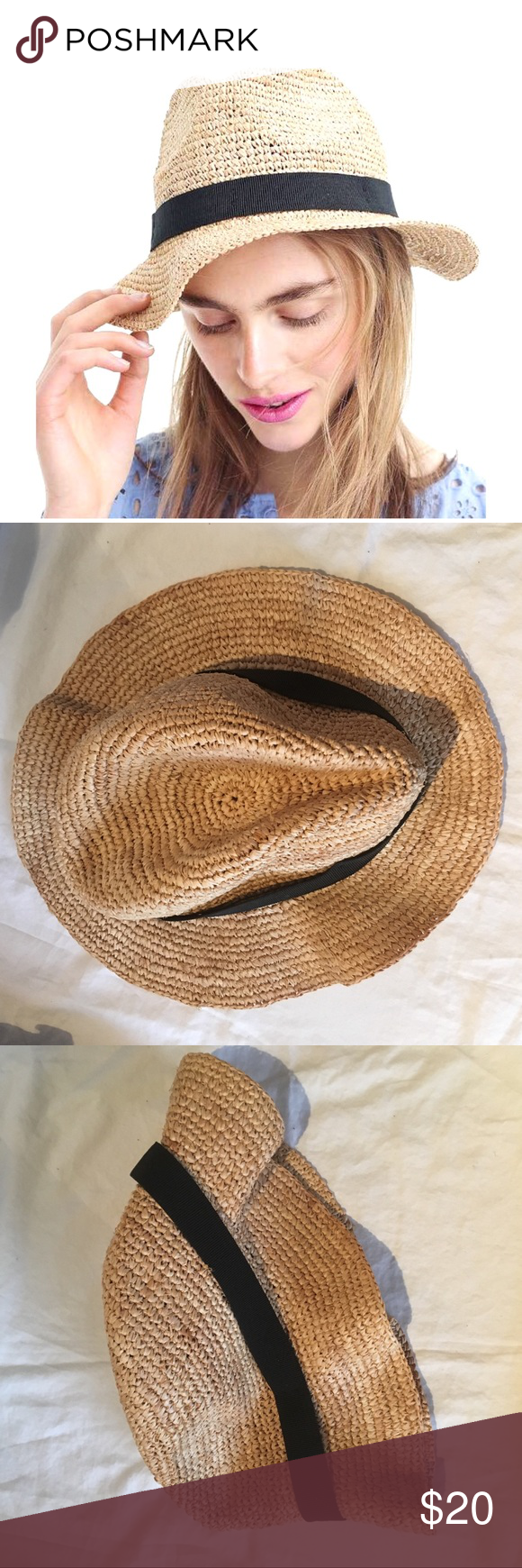 e34f228684c5d J. Crew Packable Straw Hat Packable straw hat