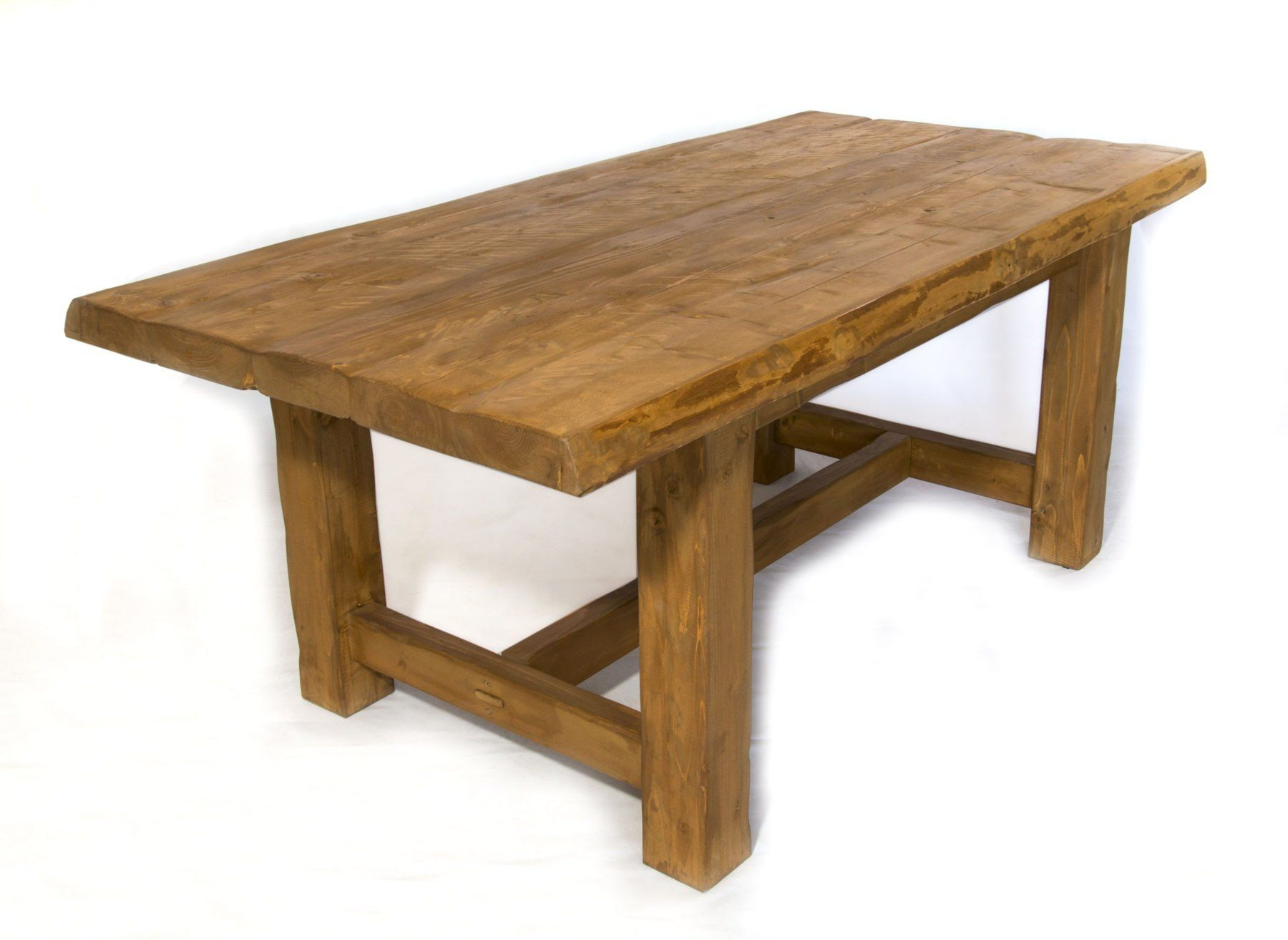 Distressed Pine Live Edge French Farmhouse Style Table Salvaged Woodrecycled