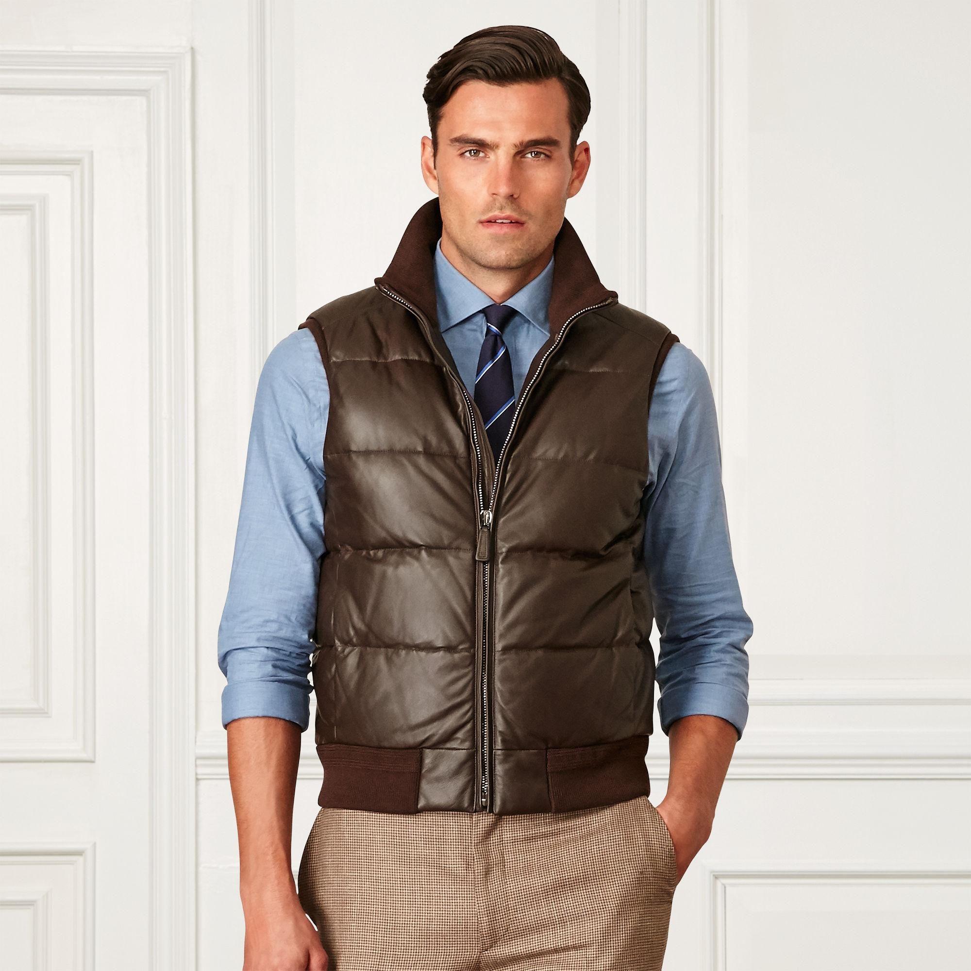 Buy Ralph Lauren Purple Label Men's Brown Quilted Leather