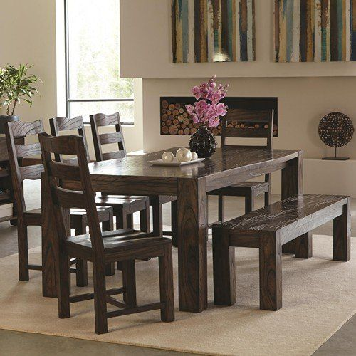 Janes Gallerie Rustic Butcher Block 8Piece Dining Set Https Delectable 8 Pc Dining Room Set 2018