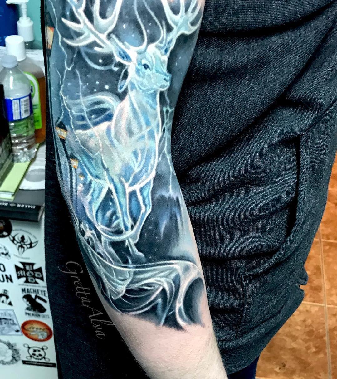 Greta Alva Tattoo Realistic Patronus Harry Potter Tattoos Harry Potter Tattoo Unique Tattoos