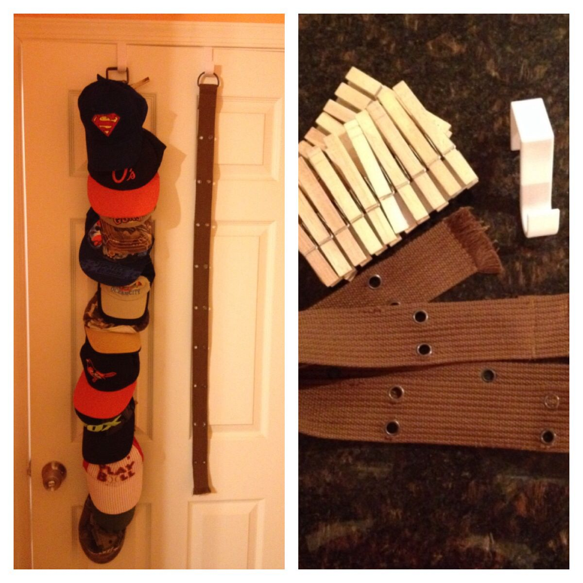 Diy Over The Door Hat Rack I Recently Pinned Something Similar