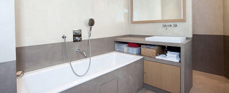 Béton Ciré et Enduit Décoratif pour la salle de bains | appartement ...