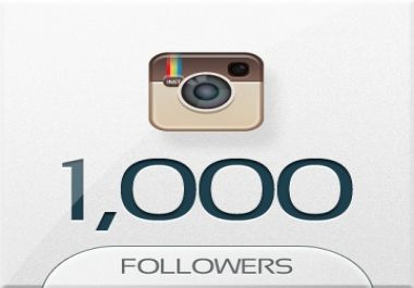 give 1000+ INSTAGRAM FOLLOWERS on your account @ J... for $1