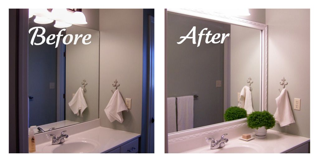 Awesome Framing Bathroom Mirrors With Crown Molding   Google Search