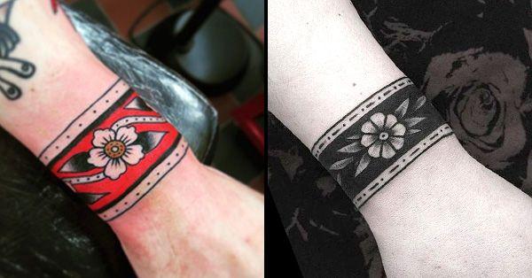 12 Classy Cuff Tattoos Cuff Tattoo Cuff Tattoo Wrist Traditional Tattoo Cuff