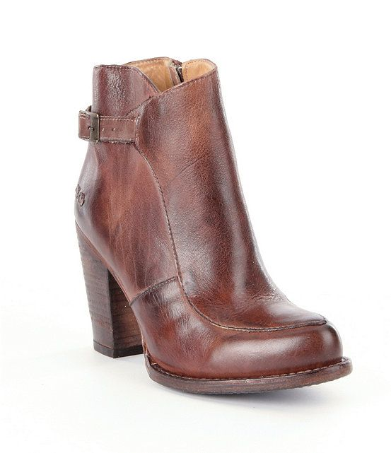 Bed Stu Isla Distressed Buckle Strap Booties