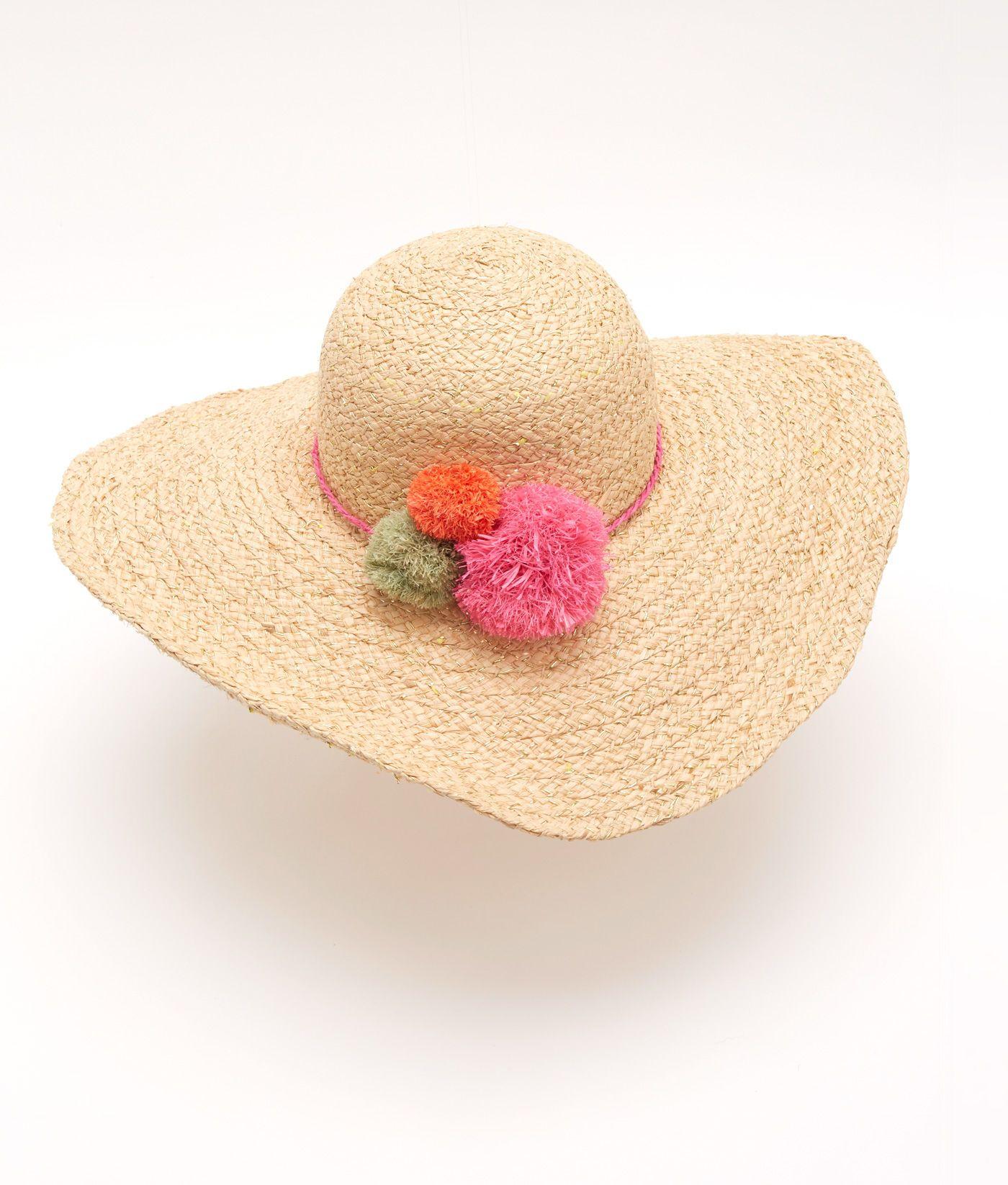Shop Straw Pom Hat At Vineyard Vines Hats Pom Pom Hat