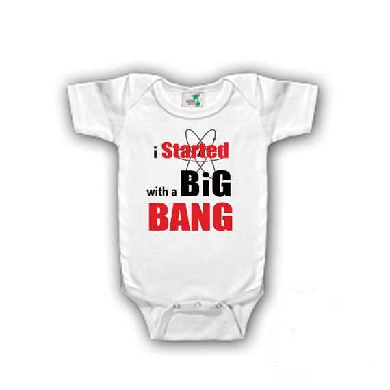 BAZINGA BIG BANG THEORY FUNNY BABY SLEEPSUIT BABYGROW T SHIRT VEST BODYSUIT