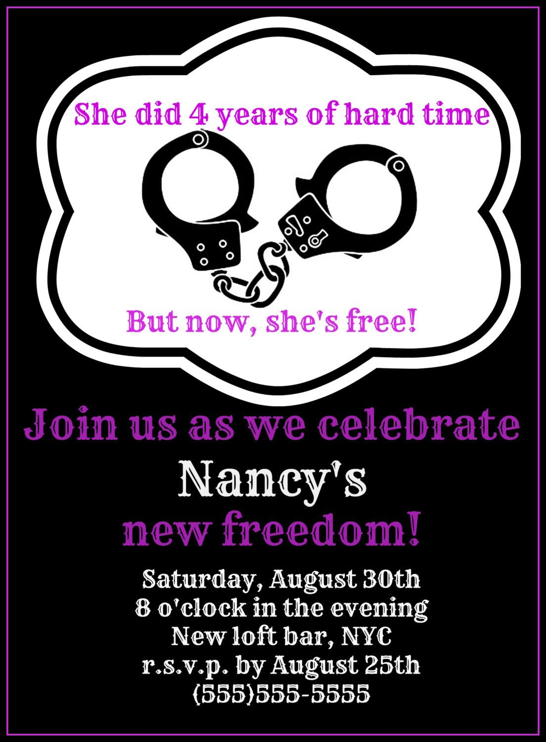 FREEDOM Divorce Party Invitations- Digital Download by ...
