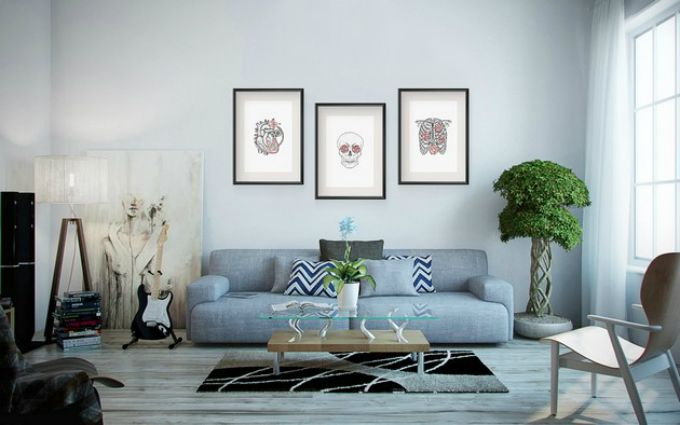 Wohnzimmer mit blaue t ne neue trends dekotipps for Dekorative bilder wohnzimmer