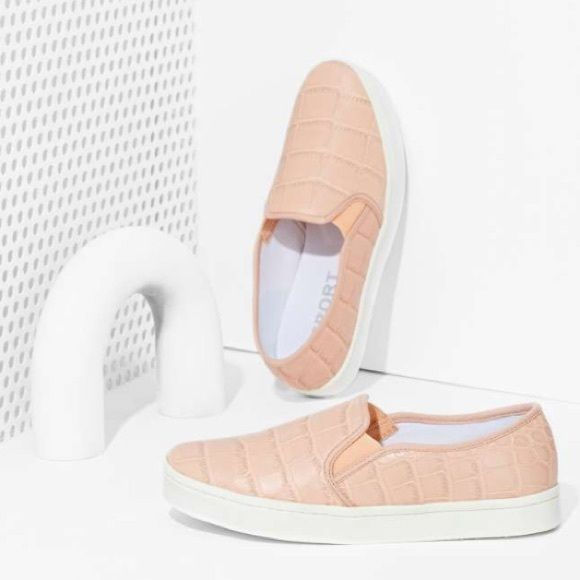 Report Keelin Slip-On Sneaker - Blush Worn only twice... Like new  Textured man-made upper with tonal stitching. Slip-on construction with elastic goring for on-and-off ease. Report Shoes Sneakers