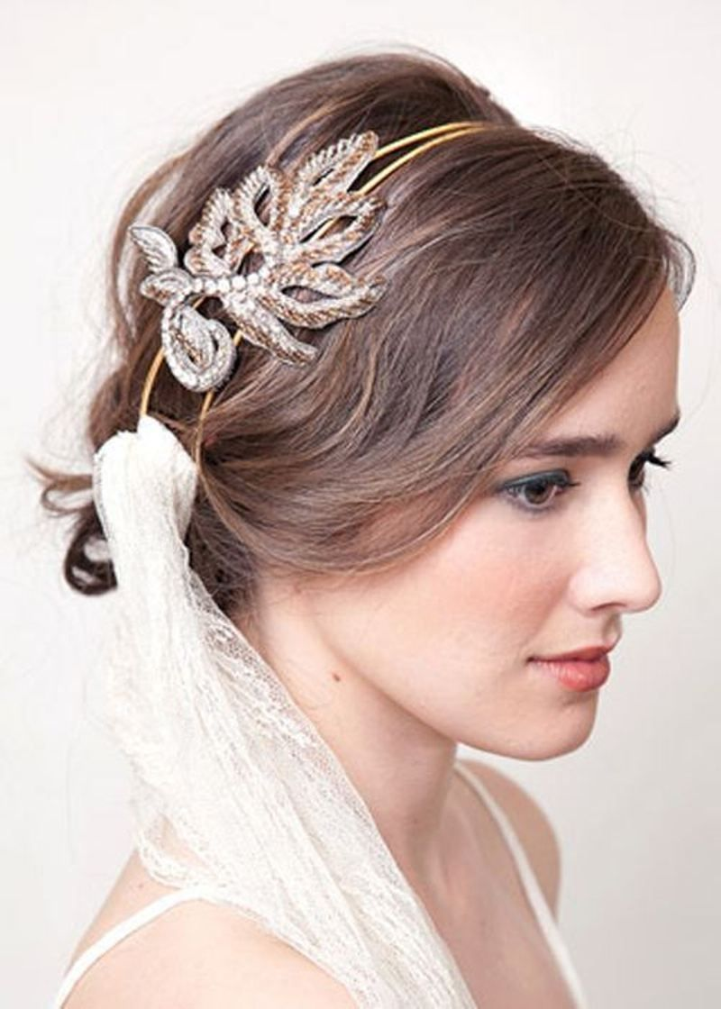 wedding hairstyles for short hair with veil elasdress bridal veils