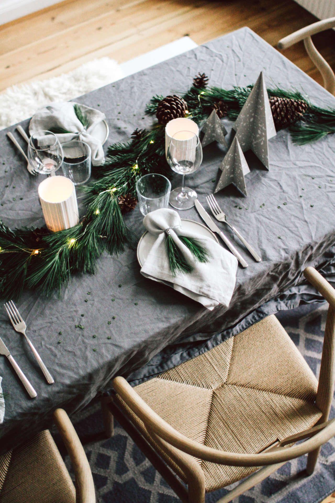 Weihnachtstisch: Unsere Tischdekoration für Weihnachten