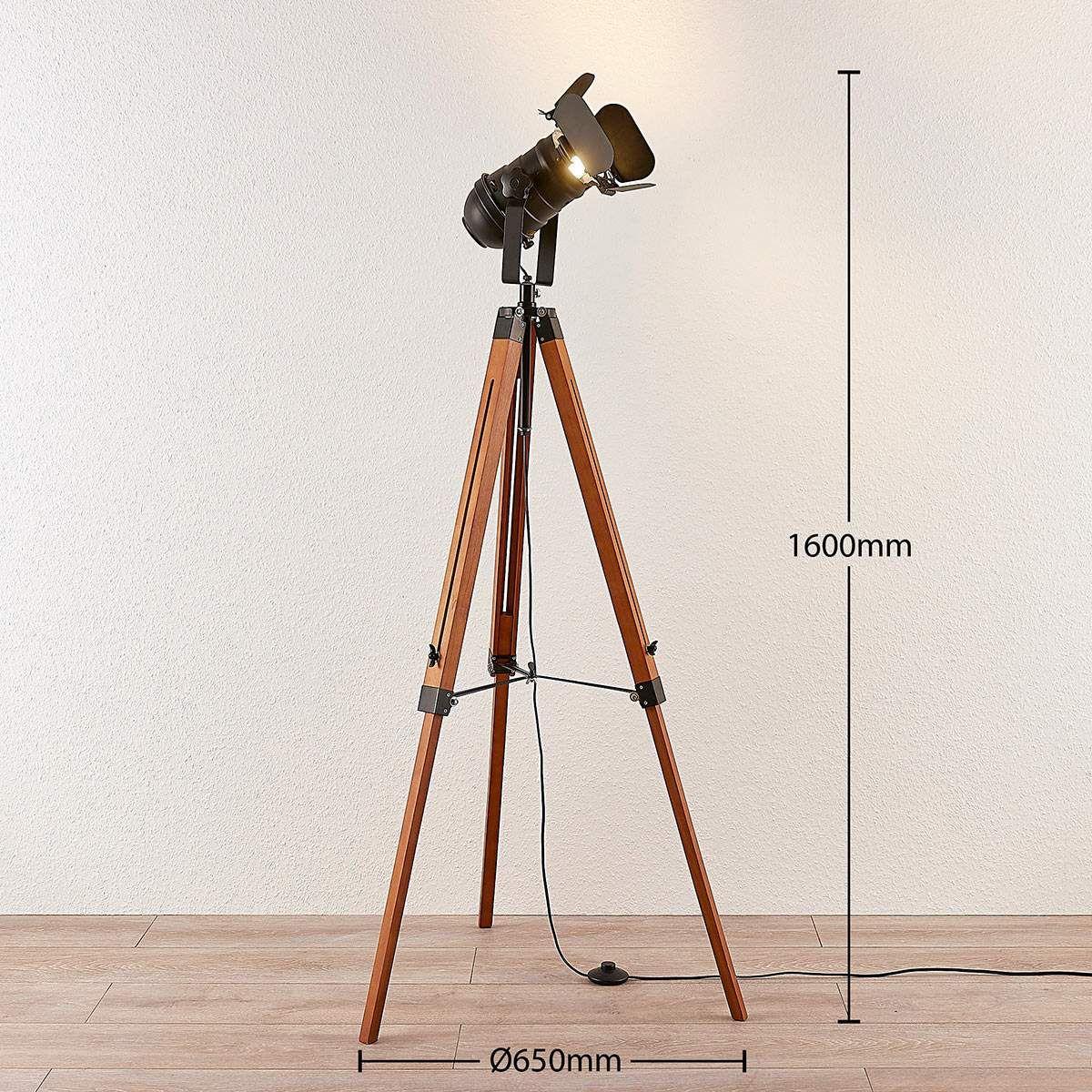 Industrial Stehlampe Von Lampenwelt Com Braun Stehlampe Lampen